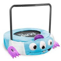 Pure Fun 36-inch Monster Plush Jumper Kids Trampoline with Handrail, Foldable