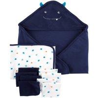 Hooded Towels & Washcloths, 10pc Set (Baby Boys)