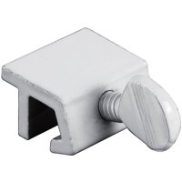 "Prime Line U9823 1"" White Extruded Aluminum Sliding Window Lock, 4 Count"