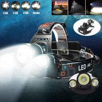 5000 Lumens 3xT6 LED Rechargeable Headlamp Headlight Flashlight Torch 3Modes For Camping Fishing