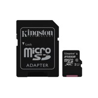 256GB microSDHC Canvas Select 80R CL10 UHS-I Card + SD Adapter