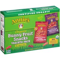 Annie's Organic Bunny Fruit Snacks Variety Pack, 9.6 Oz., 12 Count