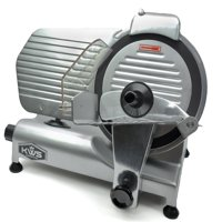 """KWS Premium Commercial 320w Electric Meat Slicer 10"""" with Non-sticky Teflon Blade, Frozen Meat/ Cheese/ Food Slicer Low Noises Commercial and Home Use"""