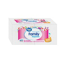 (2 pack) Great Value Family Napkins, White, 500 Napkins (1000 Napkins Total)