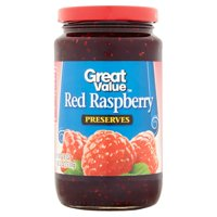 (3 Pack) Great Value Red Raspberry Preserves, 18 oz