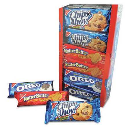 Nabisco Chips Ahoy! Nutter Butter, & Oreo Variety Cookie Pack, 23.4 Oz., 12 Count - Halloween Acorn Cookies