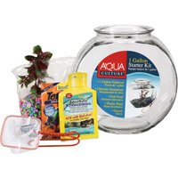 Aqua Culture Premium 1-Gallon Fishbowl Starter Kit