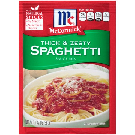 (3 Pack) McCormick Thick And Zesty Spaghetti Sauce Mix, 1.37 oz