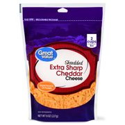 Great Value, Shredded Cheddar Cheese, Extra Sharp, 8 Oz.