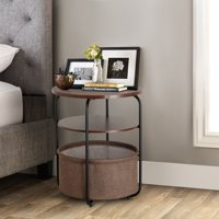 Lifewit Nightstand Organizer Bedside End Table With Storage Baskets