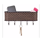 Home Basics Woven Mail Basket & Key Holder