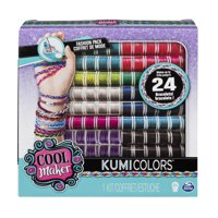 Cool Maker KumiKreator KumiColors Jewels & Cools Fashion Pack, Refill Makes Up to 24 Bracelets, for Ages 8+