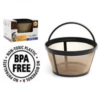 GoldTone Reusable 8-12 Cup Mr. Coffee Reuseable Basket Replacment Coffee Filter - Permanent Mr. Coffee Filter for Mr. Coffee Brewer - BPA Free