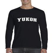 Yukon Map What to do in Yukon Canada Mens Long Sleeve Shirts