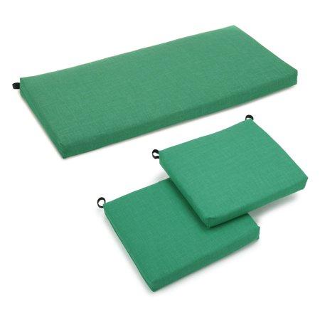 Blazing Needles Outdoor All Weather 3-Piece Patio Cushion Set ()