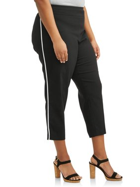 Women's Plus Size Stretch Woven Skinny Pant