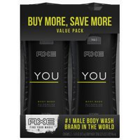AXE YOU Body Wash for Men, 16 oz, Twin Pack