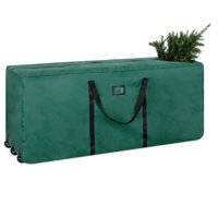 Best Choice Products Rolling Duffel Holiday Decoration Storage Bag for Up To 9ft Christmas Tree w/ 600D Polyester Fabric, Wheels, Handle - Green