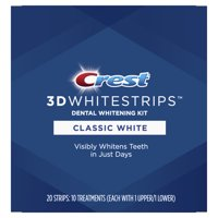 Crest 3D Whitestrips Classic White Teeth Whitening Kit, 10 Treatments