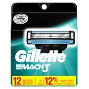 Gillette Mach3 Men's Razor Blades - 12 Refills