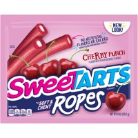 Sweetart Cherry Punch Soft & Chewy Ropes Candy 9oz (Pack of 2)