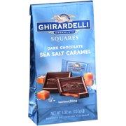 (2 pack) Ghirardelli Dark & Sea Salt Caramel Chocolate Squares, 5.32 oz