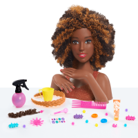 Barbie Color & Style Deluxe Styling Head - Curly Hair