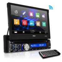 PYLE PLBT73G - Single Din DVD Receiver Bluetooth - 7-Inch Car Stereo Touch Screen Headunit Receiver - Built-In Mic, Hands-Free Call Answering -AM/FM Radio CD/DVD Car Audio System