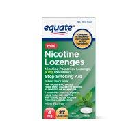 Equate Mini Nicotine Lozenge Stop Smoking Aid, Mint Flavor, 4mg, 27ct