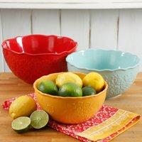 The Pioneer Woman Floral Bursts 3-Piece Serving Bowl Set