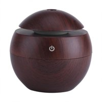 HURRISE 130MLUltrasonic Oil Aroma Humidifier Purifier Mist Maker Air Diffuser Healthy US(deep wood grain), Humidifier, Ultrasonic Diffuser