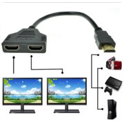 1080P 1 In 2 Out HDMI Adapter Converter For PS3 PS4 Xbox HDTV Projector