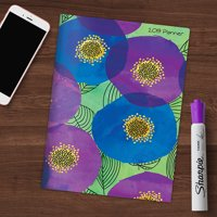 """2019 Floral Poppies Pattern 7.5"""" x 10.25"""" January 2019-December 2019 Monthly Planner"""