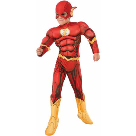 Flash Deluxe Child Halloween Costume](Ideas For Halloween Superhero Costumes)