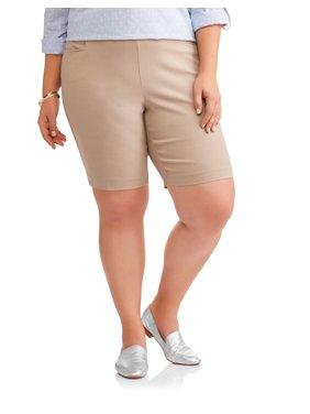 Women's Plus Stretch Woven Bermuda Short