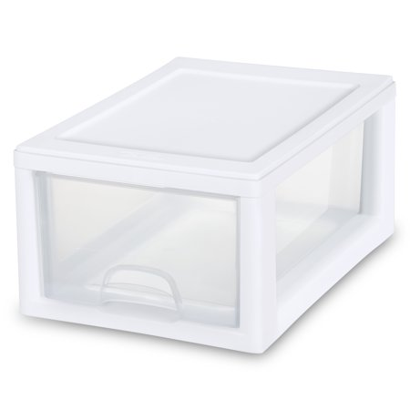 Sterilite 6 Qt./5.7 L Stacking Drawer, White ()