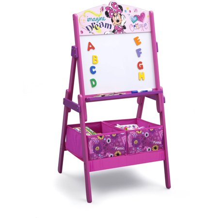 Disney Minnie Mouse Activity Easel with Storage by Delta Children - Easel For Toddler