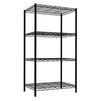 Home Basics 4-Tier Steel Wire Shelf, Black