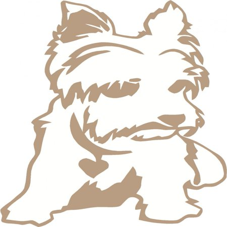 12 Inch Vinyl Decal - Custom Wall Decal Yorkie Dog Picture Art Living Room Home Decor Sticker - Vinyl Wall Decal - Size : 8 X 12 Inches