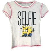 59ab1145 Despicable Me Minions Girls #Selfie T-Shirt Small