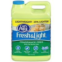 Cat's Pride Fresh And Light Premium Clumping Fragrance Free Scoopable Cat Litter Jug, 15-lb