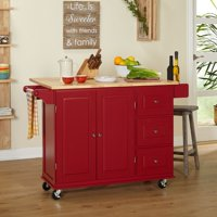 TMS Sundance Kitchen Cart, Red