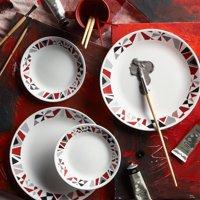 Corelle Livingware Mosaic Red 16-Piece Dinnerware Set