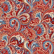 4de130cb151 Laurens Floral Paisley Red 100% Cotton Fabric by the Yard