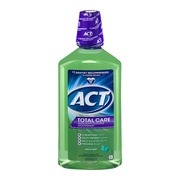 (2 pack) ACT Total Care AntiCavity Fluride Fresh Mint Mouthwash, 33.8oz