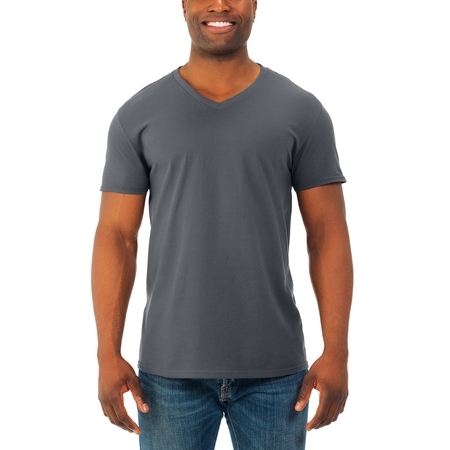 Fruit of the Loom Mens' soft short sleeve lightweight v neck t shirt, 4