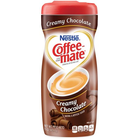 Powder Coffee Creamer ((3 pack) COFFEE MATE Creamy Chocolate Powder Coffee Creamer 15 oz. Canister)