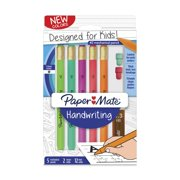 Paper Mate Handwriting Triangular Mechanical Pencil Set with Lead & Eraser Refills, 1.3mm, Fun Barrel Colors, 8 Count