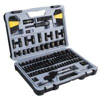 STANLEY STMT72254W 123-Piece Mechanics Tool Set, Black Chrome