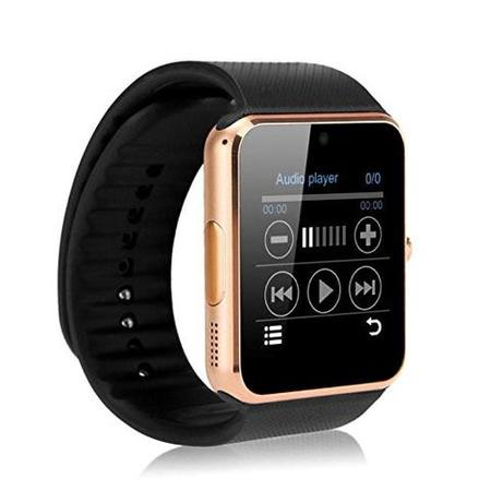 Gold Bluetooth Smart Wrist Watch Phone mate for Android Samsung HTC LG Touch Screen with -